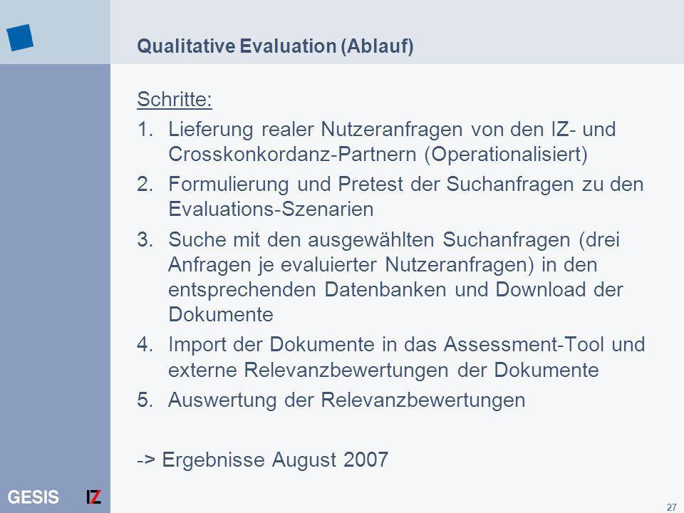 Qualitative Evaluation (Ablauf)