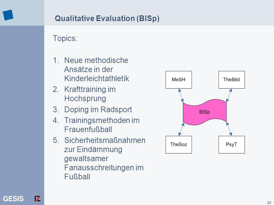 Qualitative Evaluation (BISp)