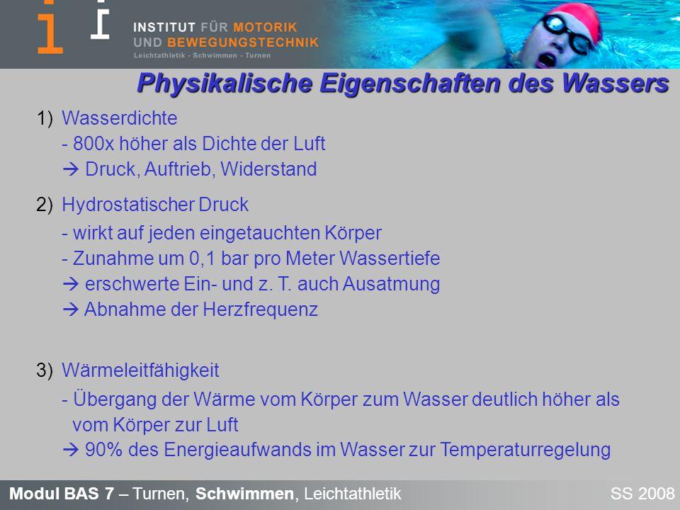 Physikalische Eigenschaften des Wassers