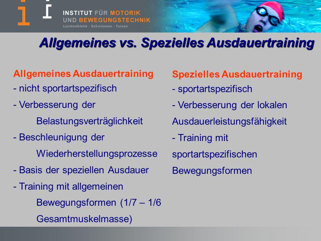 Allgemeines vs. Spezielles Ausdauertraining
