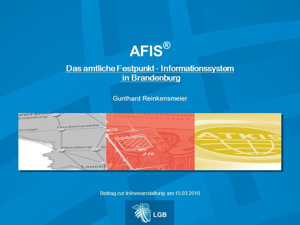Das amtliche Festpunkt - Informationssystem in Brandenburg