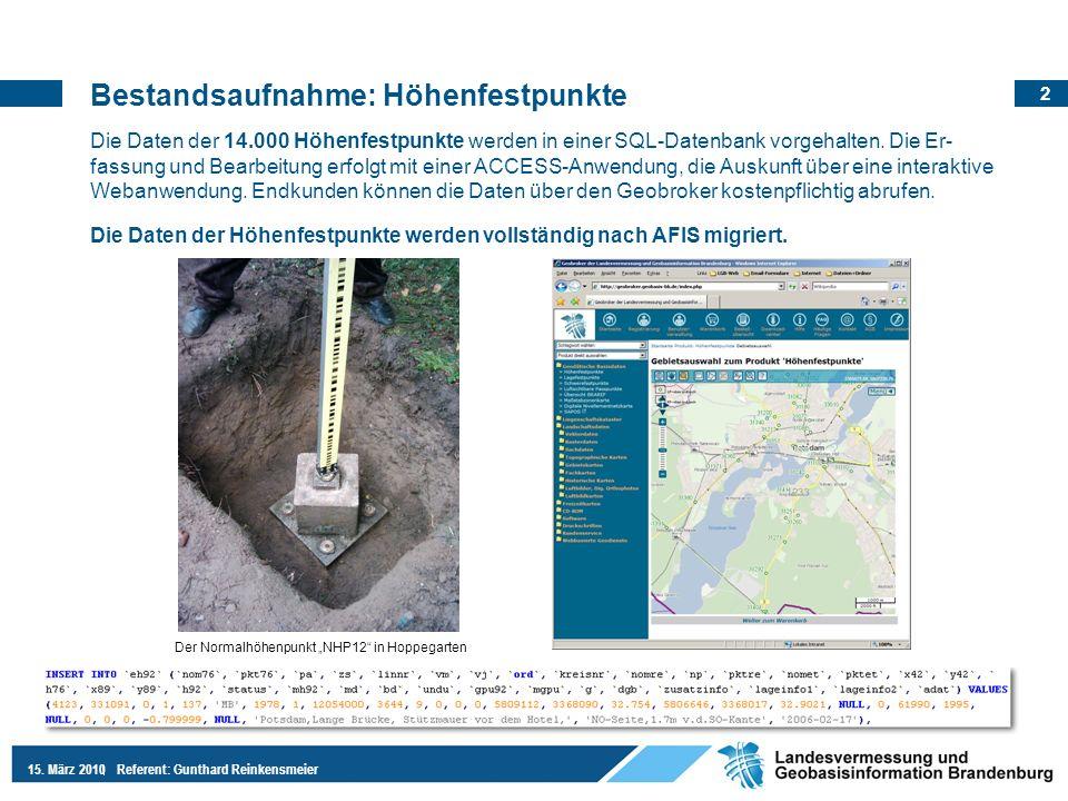 """Der Normalhöhenpunkt """"NHP12 in Hoppegarten"""