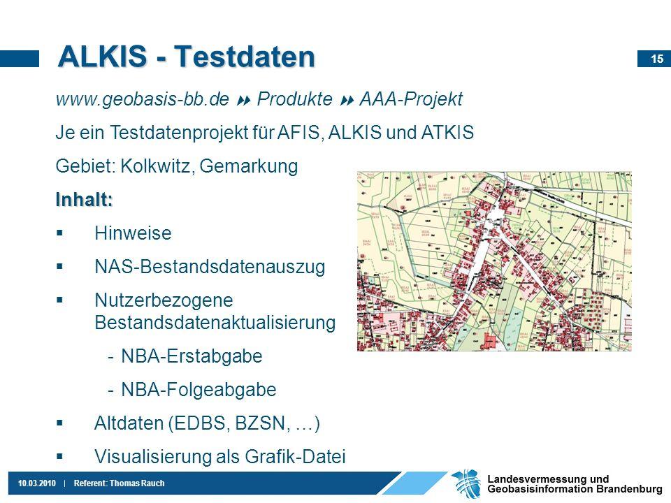 ALKIS - Testdaten www.geobasis-bb.de  Produkte  AAA-Projekt