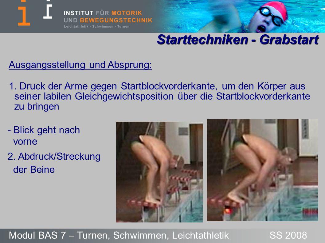 Starttechniken - Grabstart