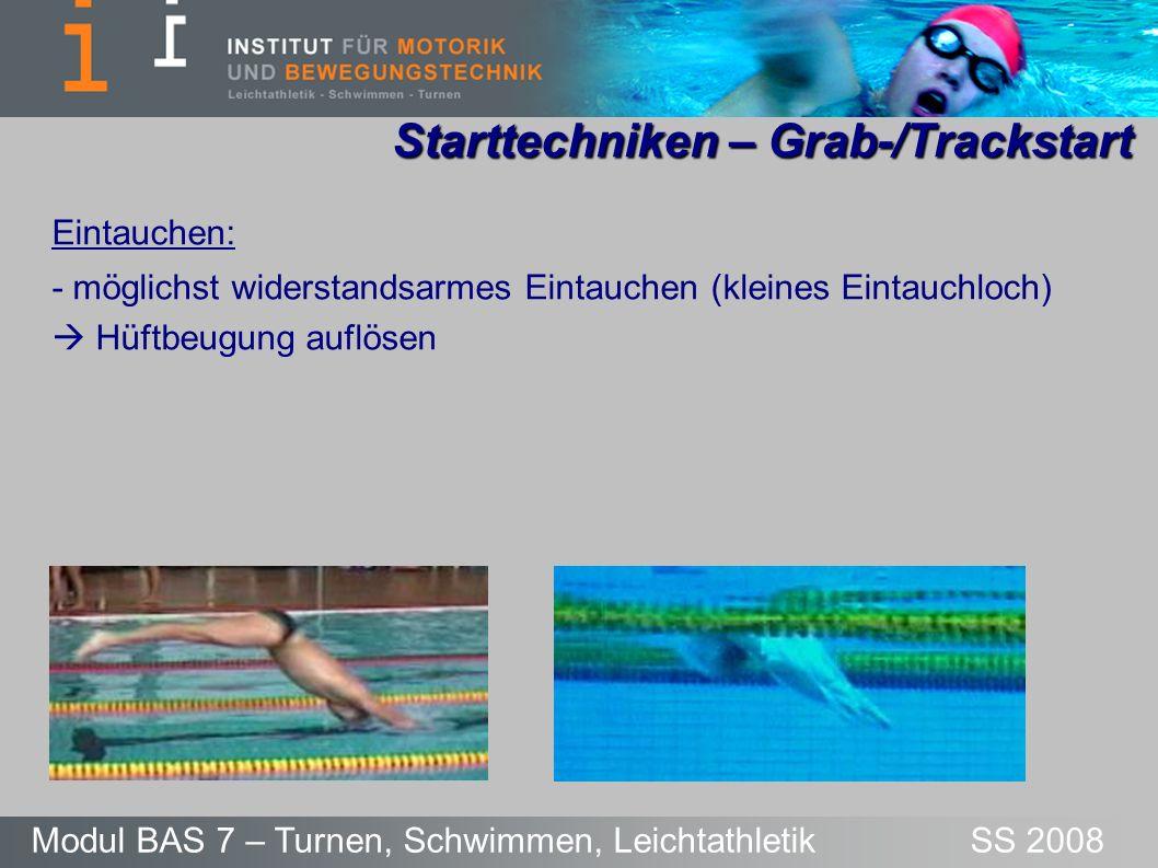 Starttechniken – Grab-/Trackstart