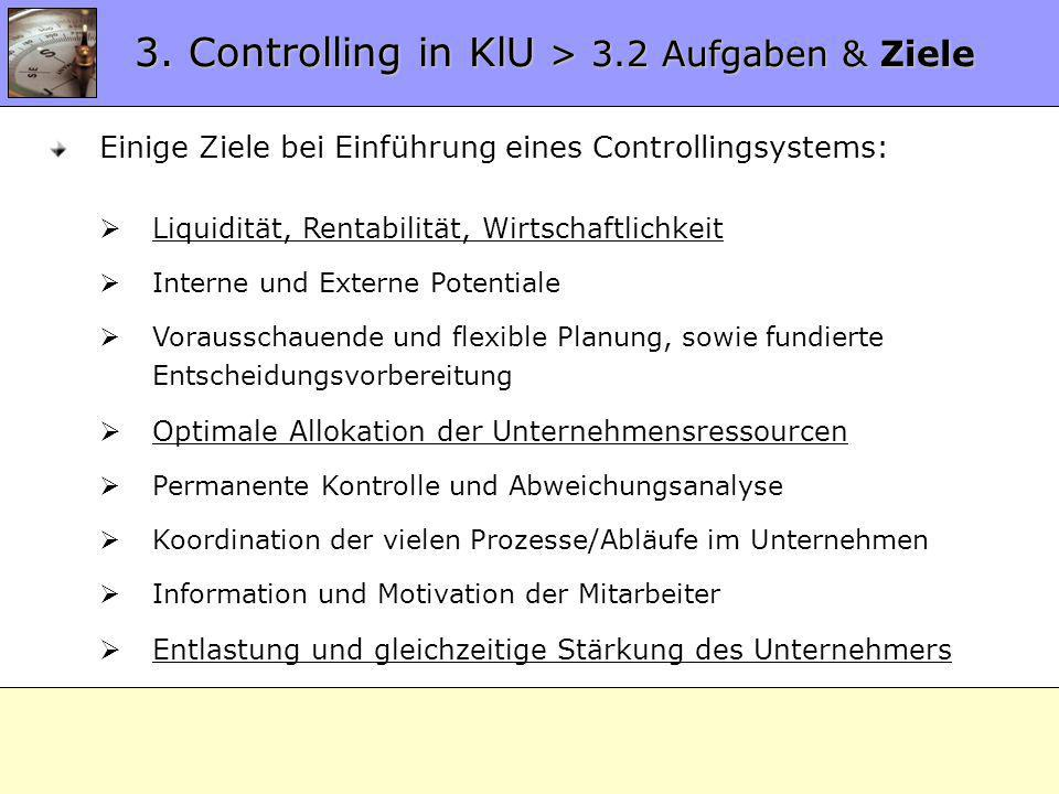 3. Controlling in KlU > 3.2 Aufgaben & Ziele