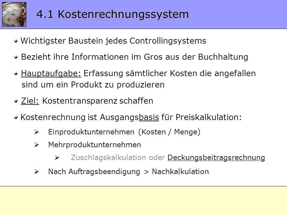 4.1 Kostenrechnungssystem