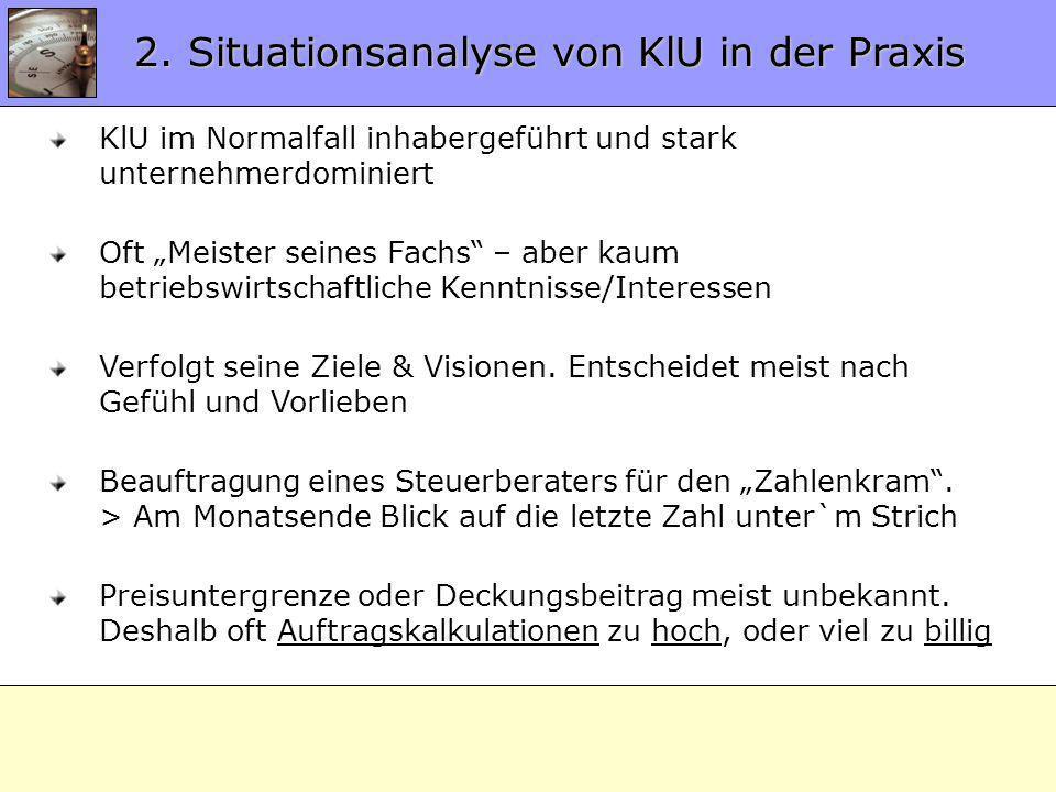 2. Situationsanalyse von KlU in der Praxis