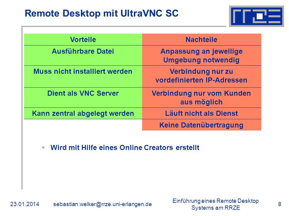 Remote Desktop mit UltraVNC SC