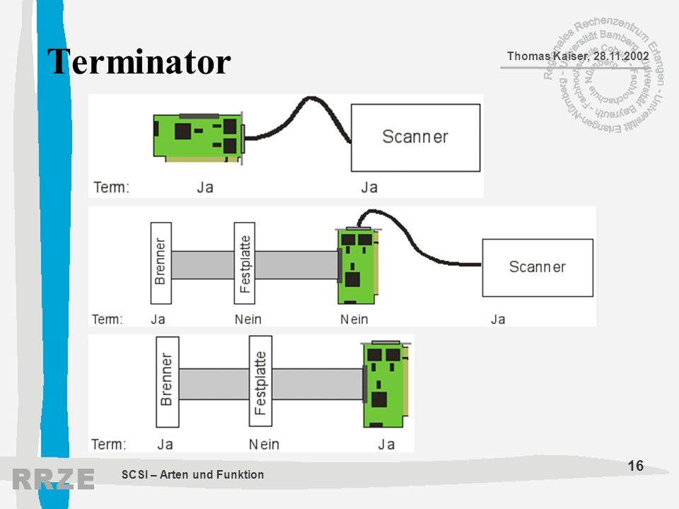 Terminator SCSI – Arten und Funktion