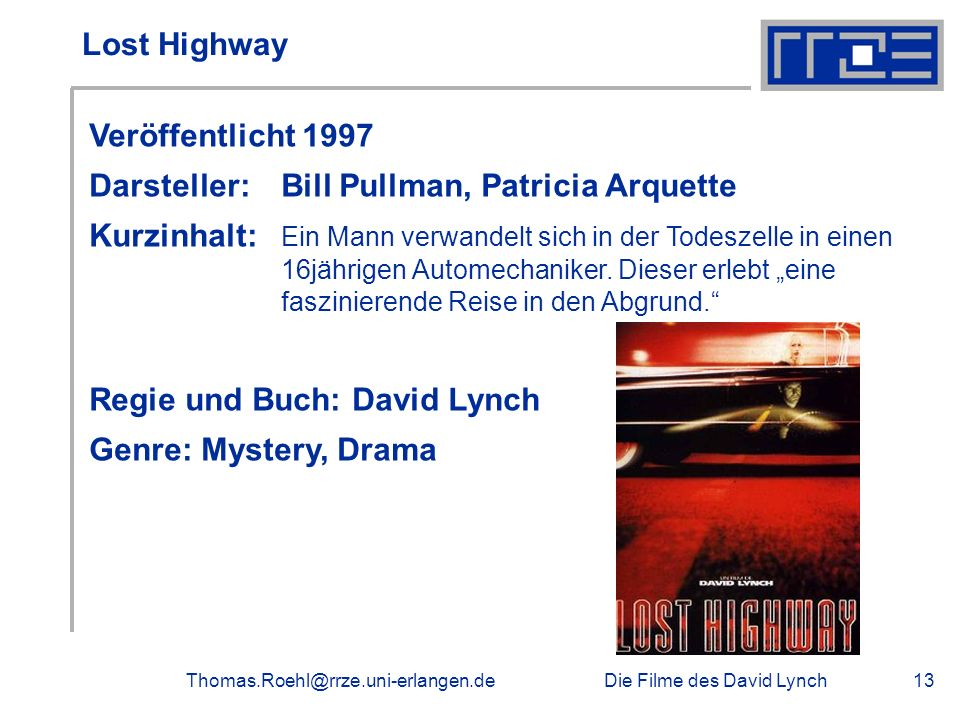 Darsteller: Bill Pullman, Patricia Arquette