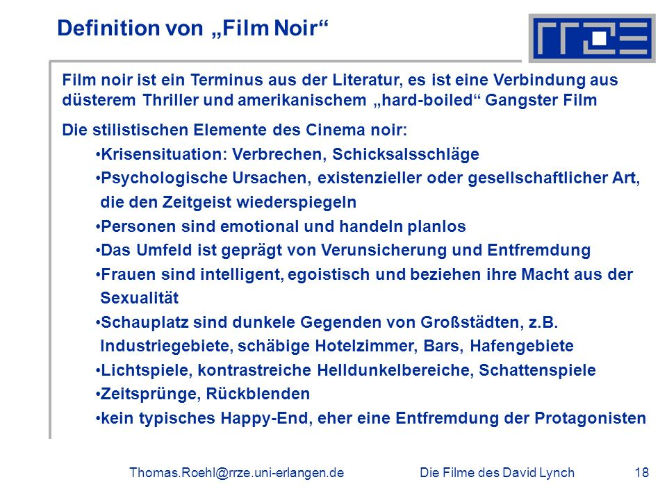 "Definition von ""Film Noir"