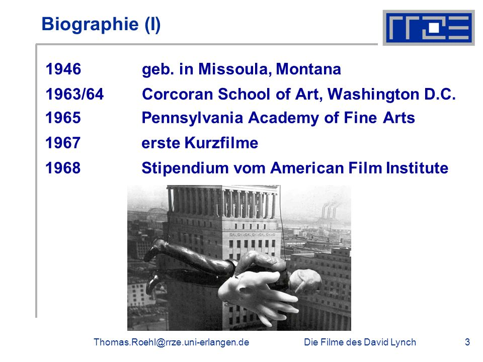Biographie (I) 1946 geb. in Missoula, Montana