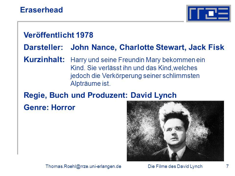 Darsteller: John Nance, Charlotte Stewart, Jack Fisk