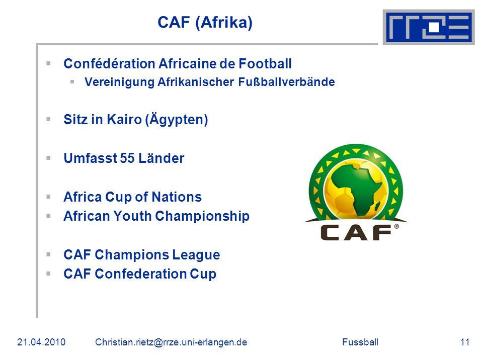 CAF (Afrika) Confédération Africaine de Football