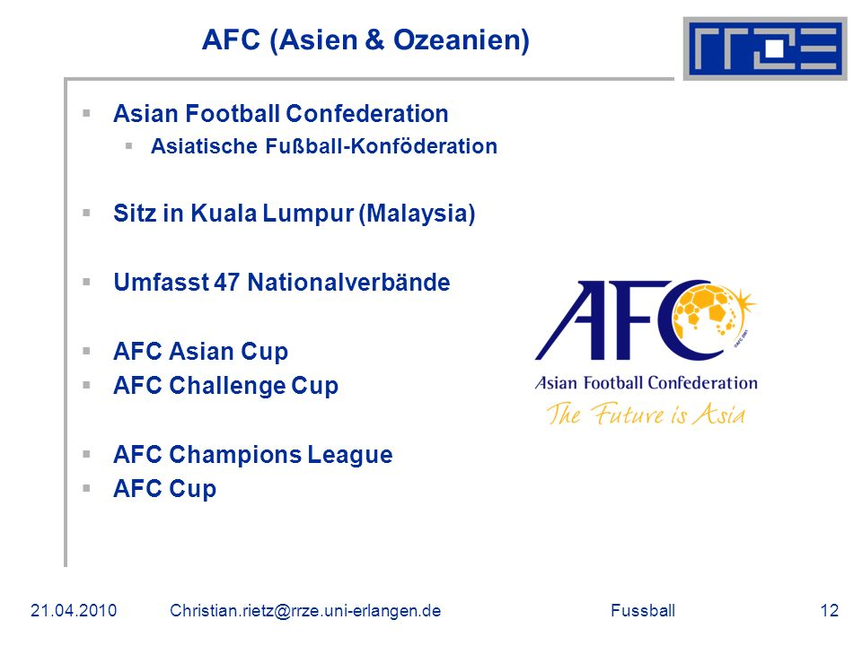 AFC (Asien & Ozeanien) Asian Football Confederation