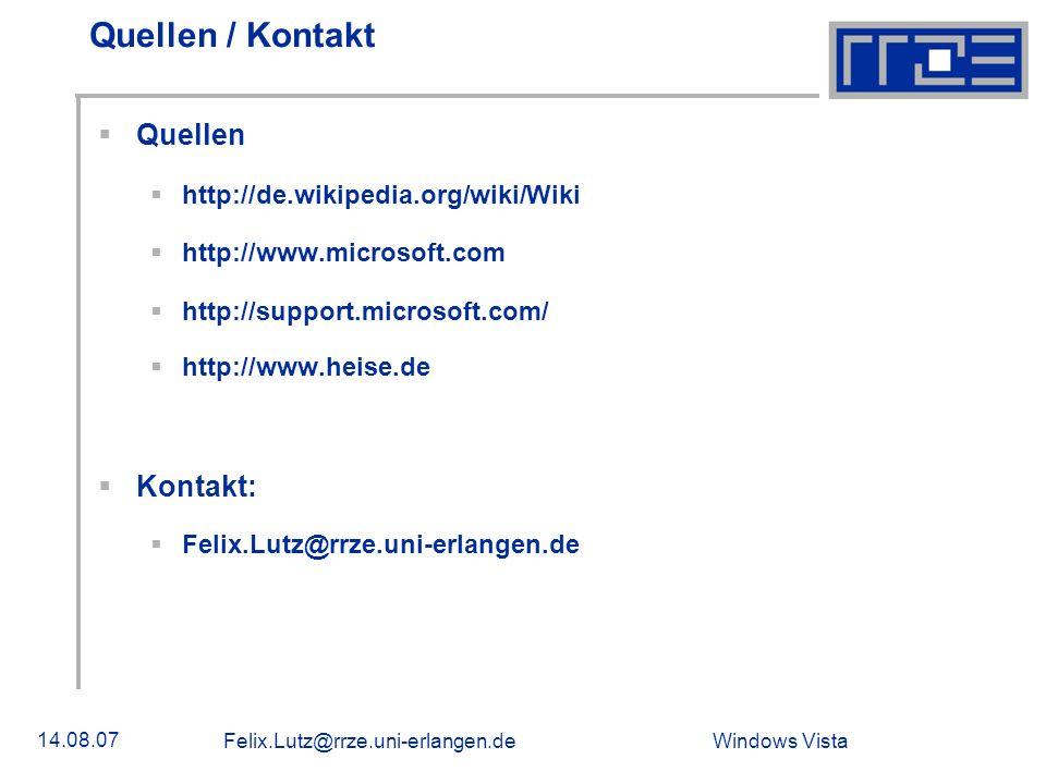 Quellen / Kontakt Quellen Kontakt: http://de.wikipedia.org/wiki/Wiki