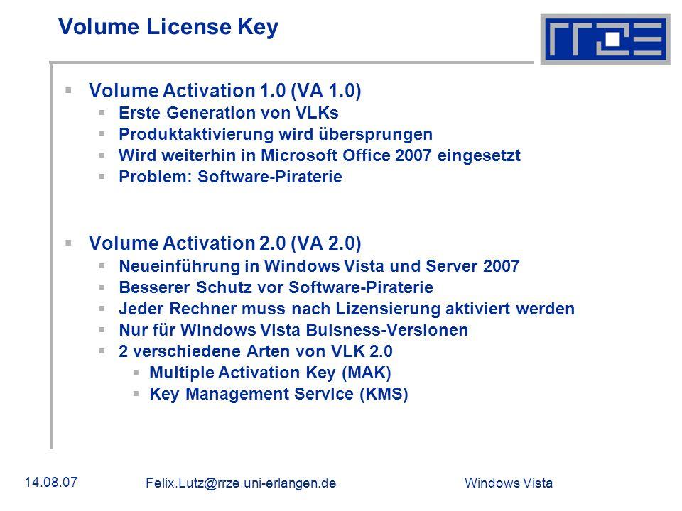 Volume License Key Volume Activation 1.0 (VA 1.0)