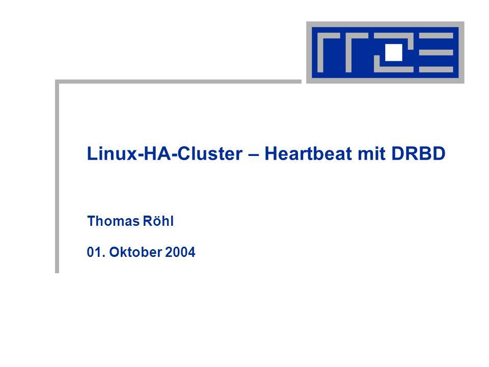 Linux-HA-Cluster – Heartbeat mit DRBD