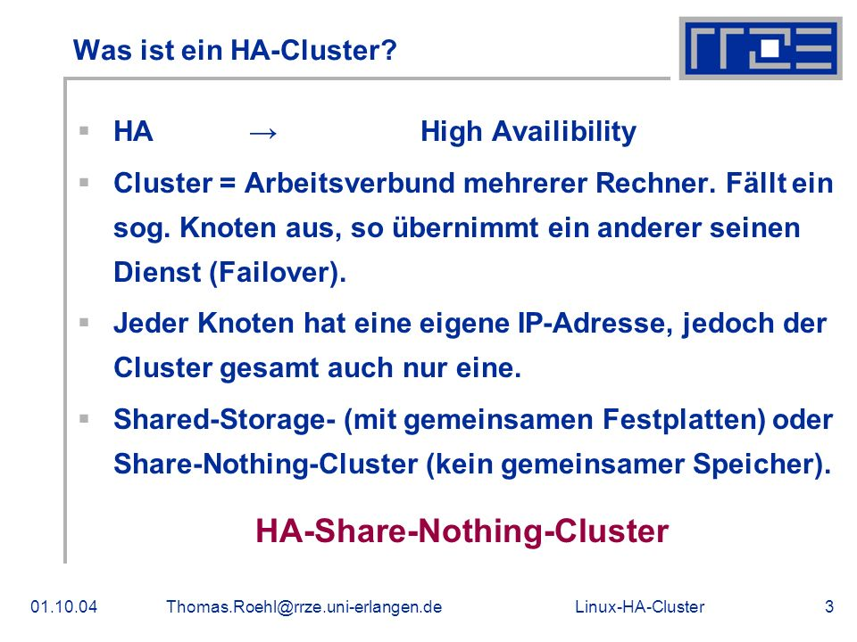 HA-Share-Nothing-Cluster