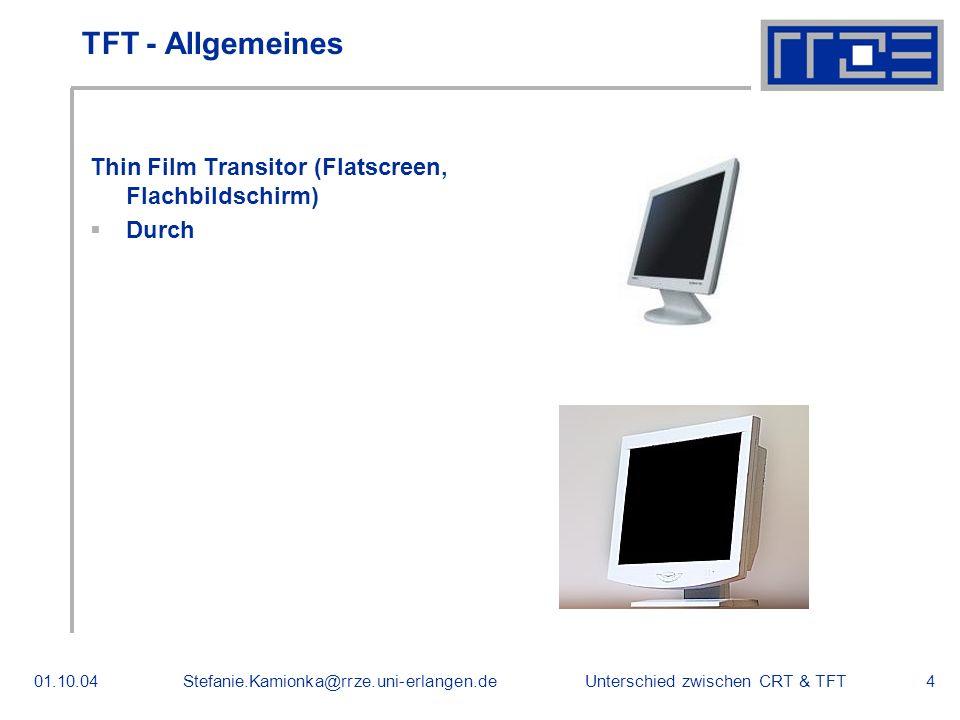 TFT - Allgemeines Thin Film Transitor (Flatscreen, Flachbildschirm)