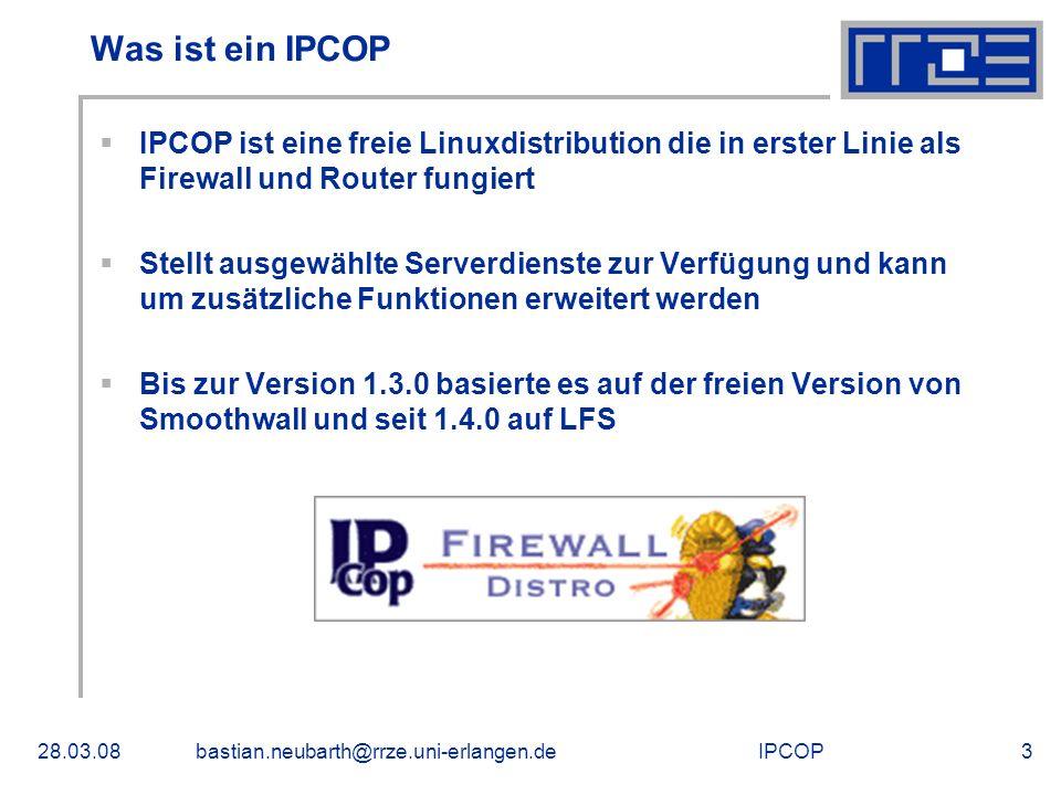 Was ist ein IPCOP IPCOP ist eine freie Linuxdistribution die in erster Linie als Firewall und Router fungiert.