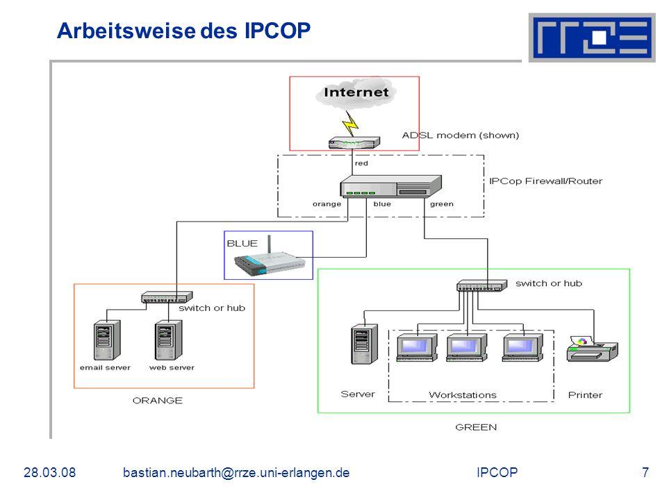 Arbeitsweise des IPCOP
