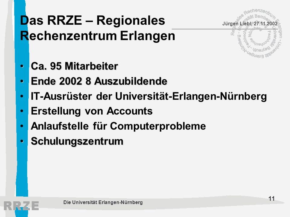 Das RRZE – Regionales Rechenzentrum Erlangen