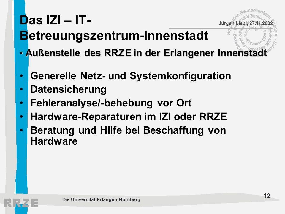 Das IZI – IT-Betreuungszentrum-Innenstadt