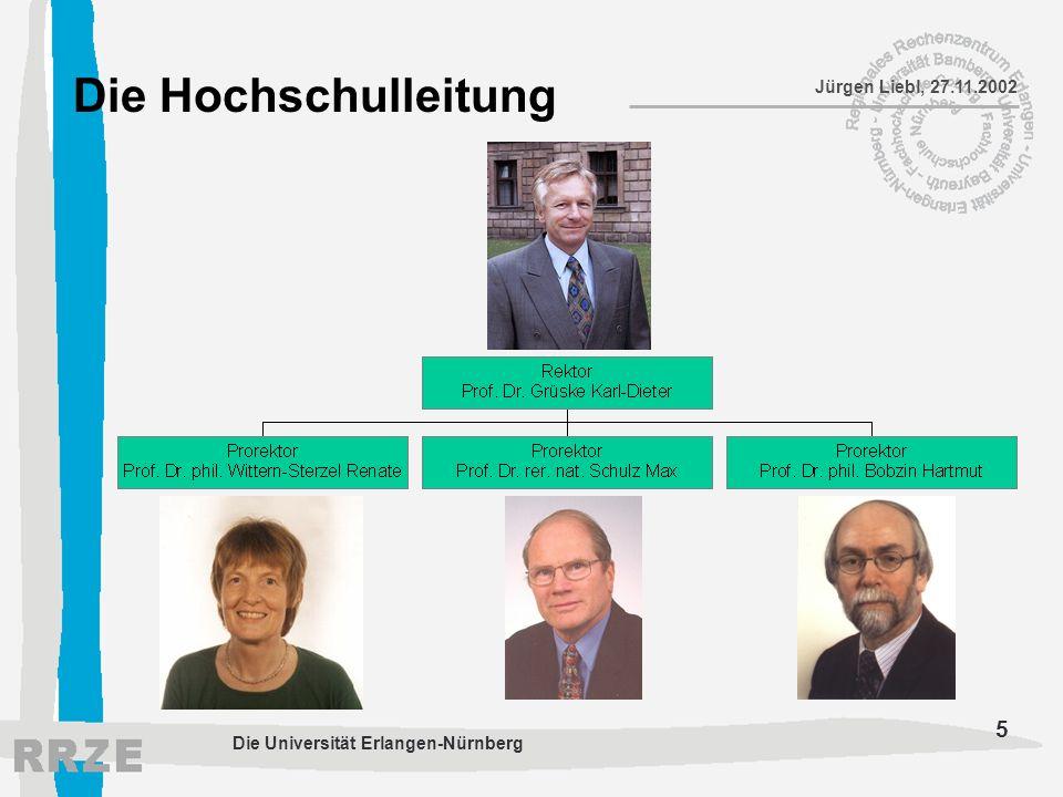 Die Hochschulleitung Die Universität Erlangen-Nürnberg
