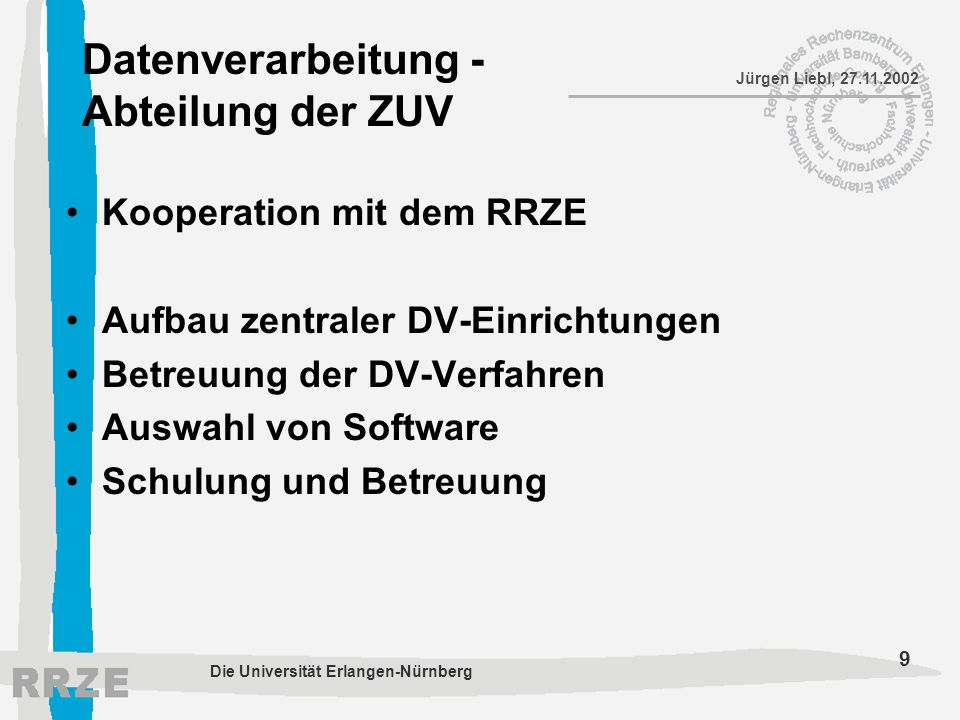 Datenverarbeitung - Abteilung der ZUV