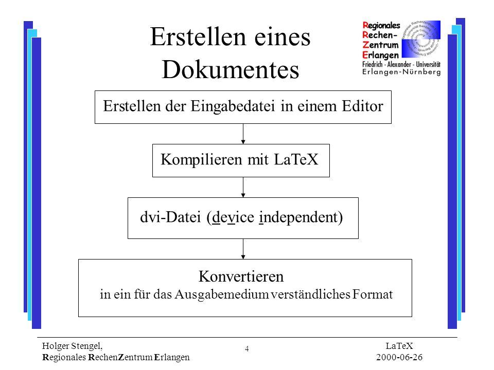 Erstellen eines Dokumentes