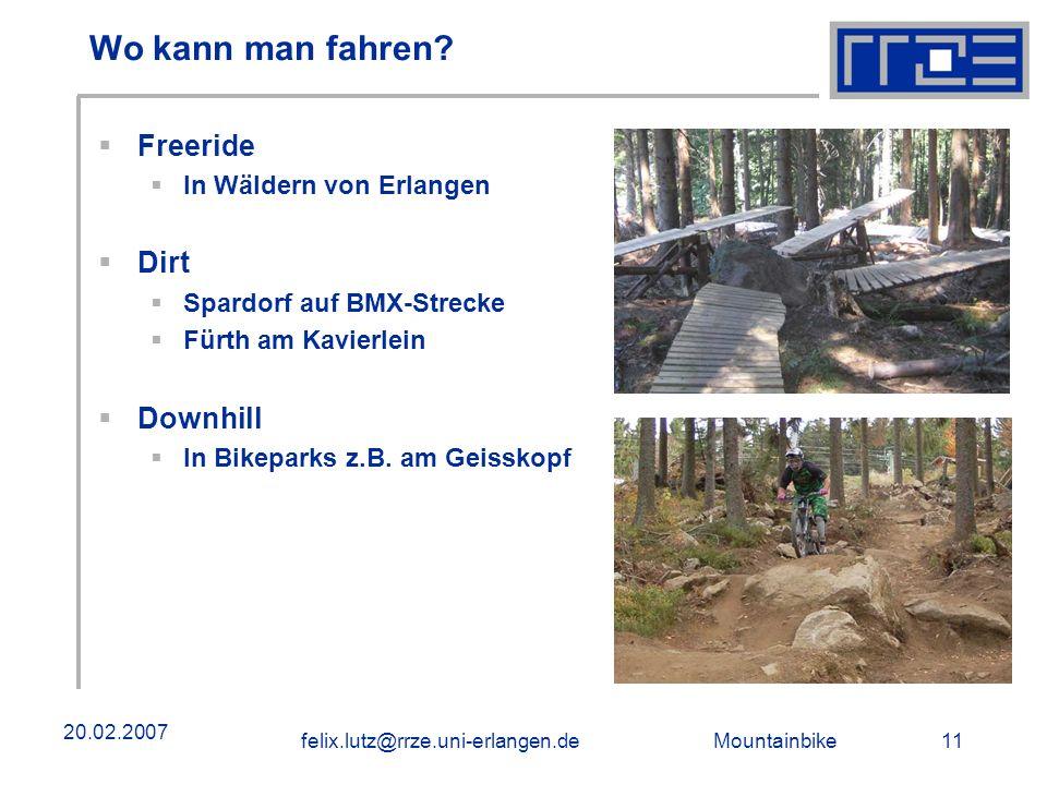 Wo kann man fahren Freeride Dirt Downhill In Wäldern von Erlangen