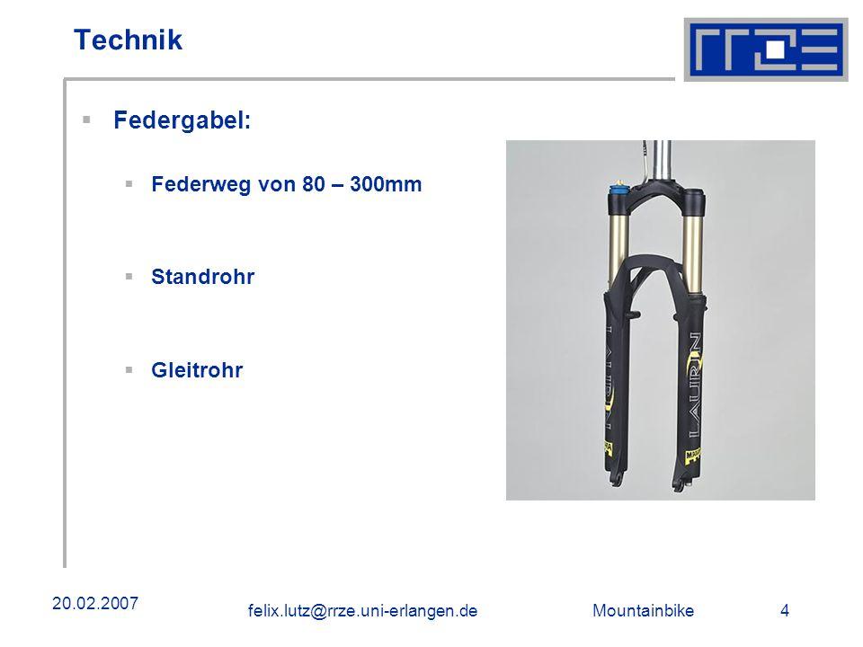 Technik Federgabel: Federweg von 80 – 300mm Standrohr Gleitrohr