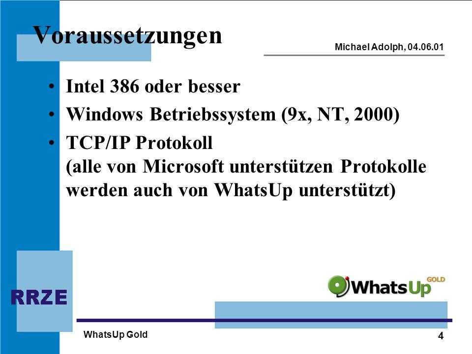 Voraussetzungen Intel 386 oder besser