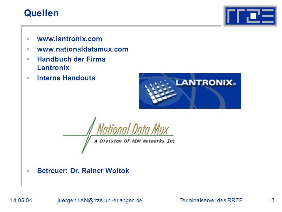 Quellen www.lantronix.com www.nationaldatamux.com