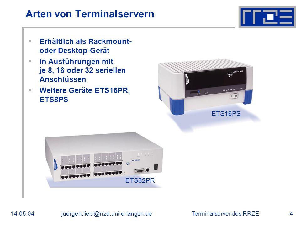 Arten von Terminalservern