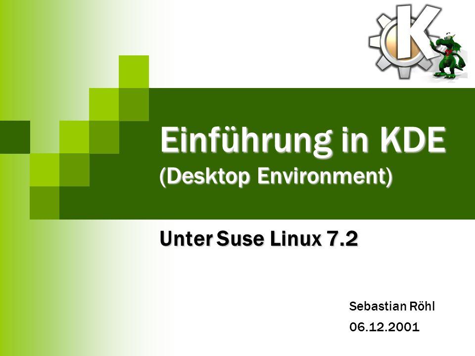 Einführung in KDE (Desktop Environment)