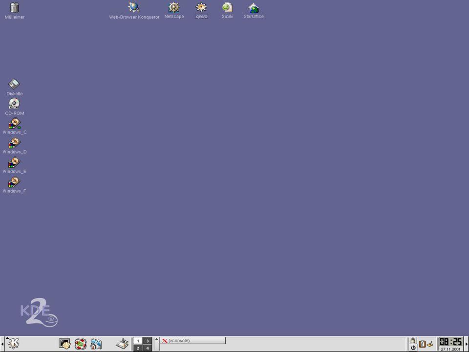 Einführung in KDE Sebastian Röhl 06.12.2001