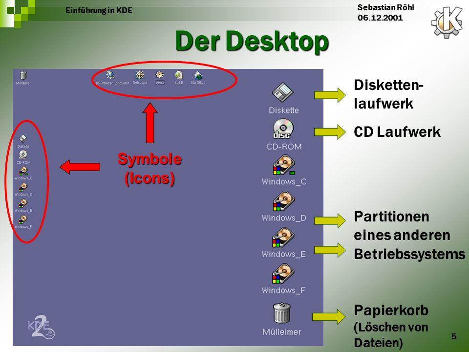 Der Desktop Disketten-laufwerk CD Laufwerk