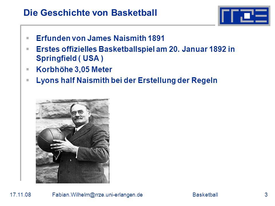 Die Geschichte von Basketball