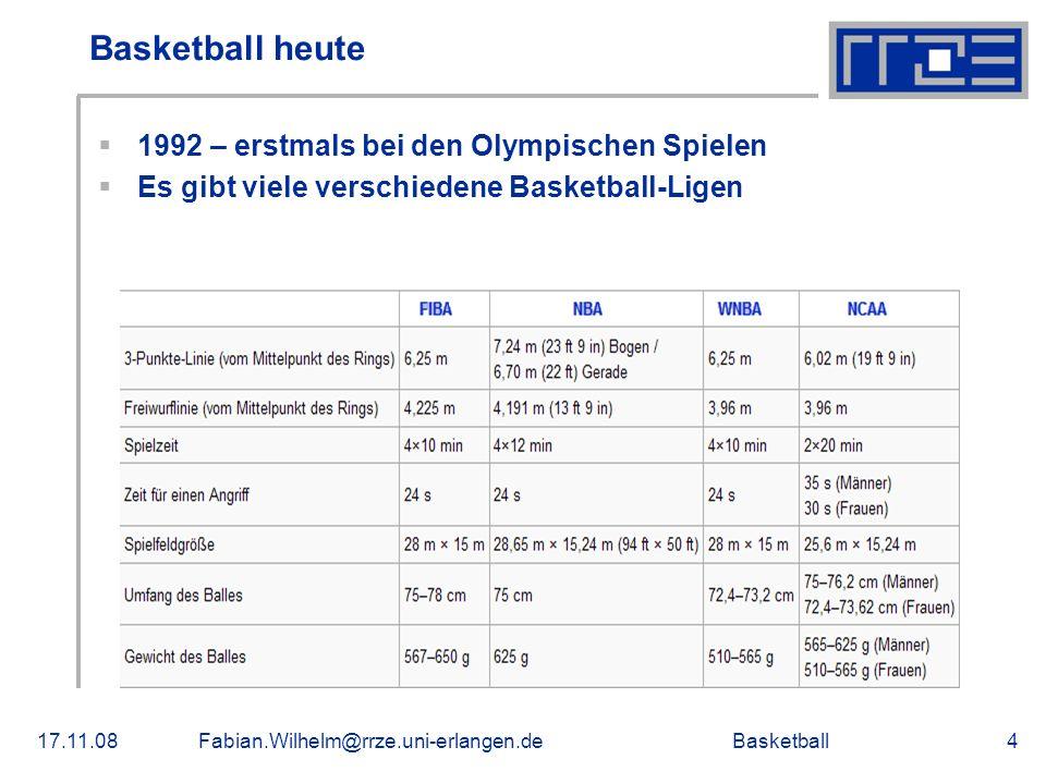 Basketball heute 1992 – erstmals bei den Olympischen Spielen