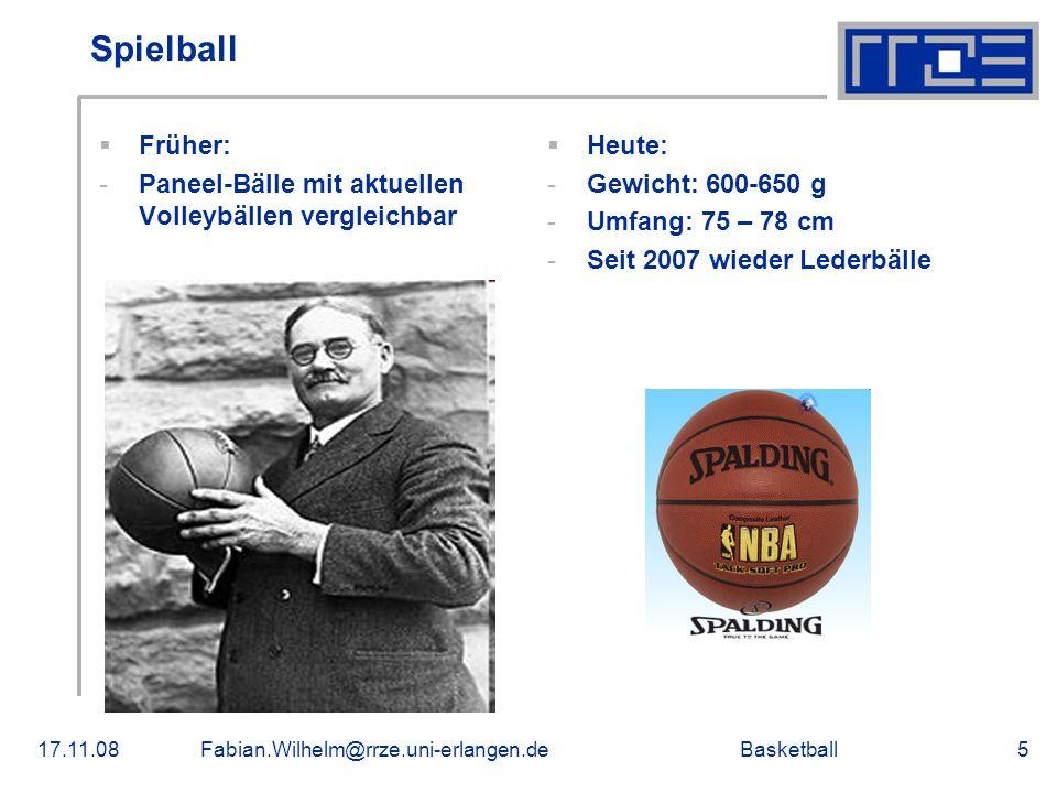 Spielball Früher: Paneel-Bälle mit aktuellen Volleybällen vergleichbar
