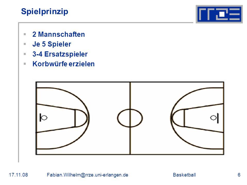 Spielprinzip 2 Mannschaften Je 5 Spieler 3-4 Ersatzspieler