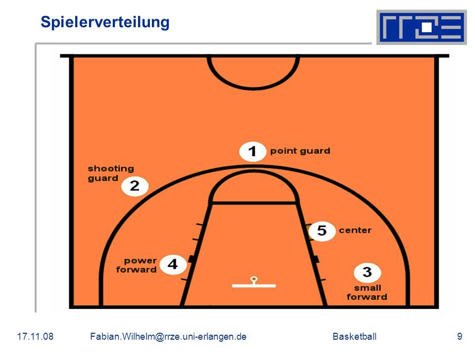 Spielerverteilung 17.11.08 Fabian.Wilhelm@rrze.uni-erlangen.de