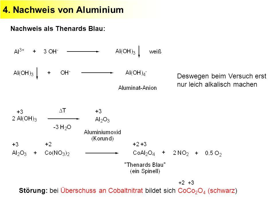 4. Nachweis von Aluminium