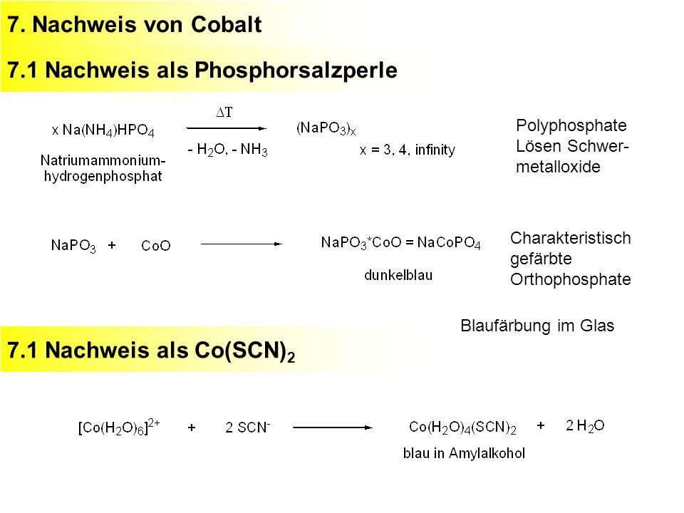 7.1 Nachweis als Phosphorsalzperle