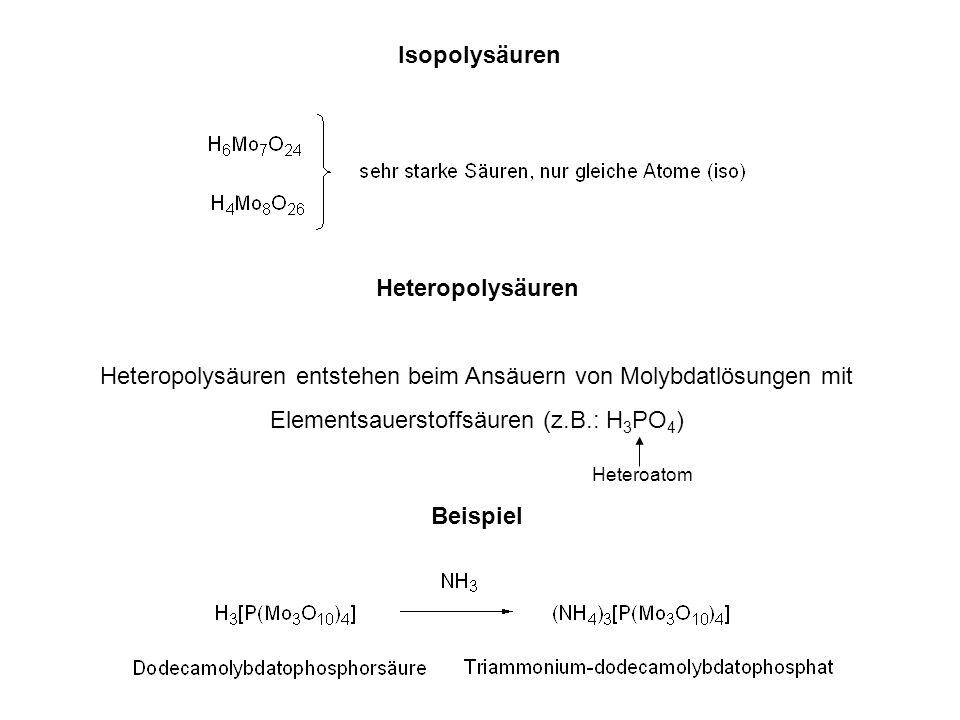Isopolysäuren Heteropolysäuren