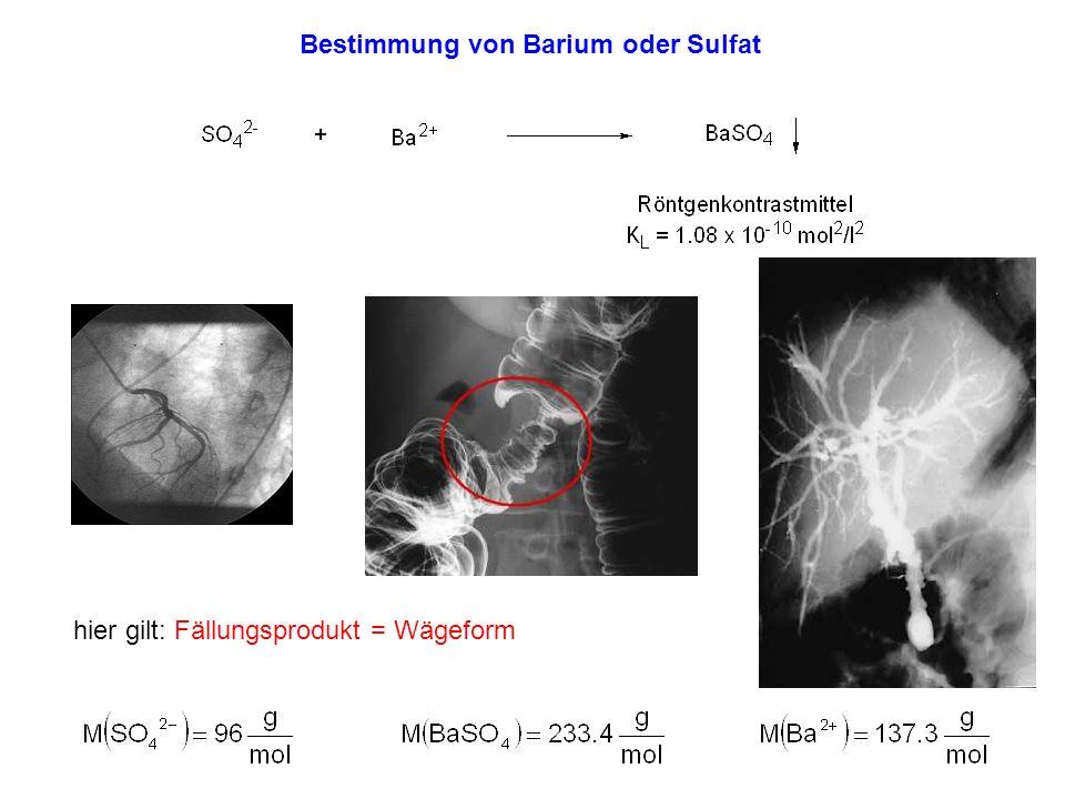 Bestimmung von Barium oder Sulfat