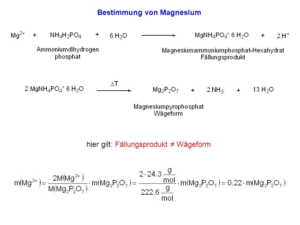 Bestimmung von Magnesium
